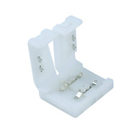 Wholesale 10pcs mm pin Wide White Led Strip Conector adapter Box for Single Color Flexible Led Strip Light no Need Welding