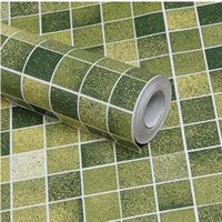area house - Mosaic waterproof self adhesive wallpaper wall stickers bathroom toilet kitchen oil stickers cupboard area