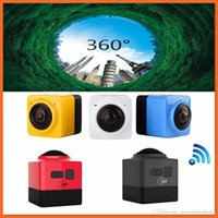 Cube 360 ​​Sports Video Camera WIFI H.264 1280 * 1042 360 Degrees Expédition DHL Panorama Caméra libre