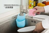 Wholesale Creative sink Basket snap shelf kitchen sink sponge pouch hanging multi draining rack factory