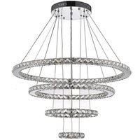 Rustic Bedroom 20 ~ 25sq.m VALLKIN Round Ring LED Crystal Pendant Light Ceiling Chandeliers Lighting Fixtures for Hotel Hallway with 120W AC100 to 240V CE FCC ROHS