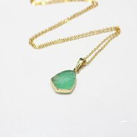 australian gemstone - Natural Jade Necklace australian jade gemstone necklaces handmade party birthday jewelry good quality bridesmaid gold plated jewelry