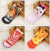 anklet sizes - 3D digital cartoon Printing ankle socks Topshop socks Harajuku ladies ankle socks Cotton sports socks Cotton anklets socks D Printed pt