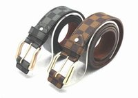 Wholesale 2014 New Korean Checkered Mens Belt Fashion Brand Designer Cowboy Wild Retro Faux Leather Belt Buckle Straps Women