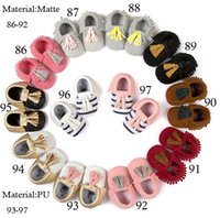 Wholesale 118 colours new baby shoes Soft Scrub Tassel Shoes Moccasin shoes Baby First Walkers Newborns baby shoes