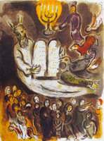 Купить Марк шагал-МОИСЕЙ скрижалях Марка Шагала, высококачественной натуральной масляной живописи расписанную абстрактного искусства на холсте заказной размер