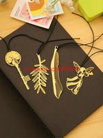 animal book mark - 300pcs Stylish Gold Plated Hollow Animal Feather Bookmarks Book Mark Office Supplies High quality Hot