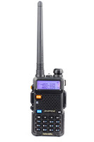 Wholesale 2016 New Black Baofeng UV R Channels VHF UHF Mini Handheld Walkie Talkie with High gain Antenna