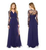 Wholesale Sexy Lace Long Dress Chiffon Evening Formal Party Dress Bridesmaid Prom Gown