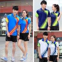 Wholesale New Men Tennis Shirts Breathable Lining Badminton Sport Polo Shirts Quick Dry Men Shirts LN03