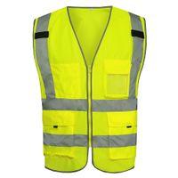 Wholesale MNDS High Light Yellow Safety Reflective Vest Chaleco Reflectante Safety Reflective Clothes Gilet Jaune Securite Reflex Weste