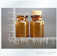 amber botte - 6ml amber glass bottle with cork amber glass vial sample botte cosmetic packaging container small glass sample Vials