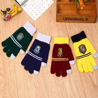 Wholesale Harry Potter Touchscreen Gloves Gryffindor Ravenclaw Hufflepuff gloves Cosplay gloves School Badge gloves Warm finger Gloves KKA828