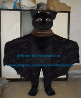 bat wings costumes - Terrible Black Bat BugBat Mascot Costume Cartoon Character Mascotte Adult Brown Eyes Big Wings Small Nose NO
