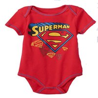 bebe kids characters - Newborn Baby Boy girl Clothes Ropa Bebe Cotton Short Sleeve Superman kids one piece Body Clothes age1 M