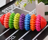 Wholesale Colorful Rubber Pet Dog Puppy Dental Teething Healthy Teeth Gums Chew Toys Tool JIA602 ZD030A