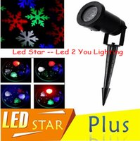Wholesale Moving Snowflake Laser LED Waterproof IP65 Landscape Light Outdoor Lighting Garden Yard Holiday Projector Xmas Decor V