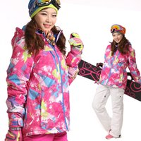 Wholesale Outdoor ski suit women s thermal windproof waterproof outdoor jacket double cotton skiing clothing wj15
