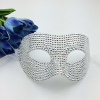 Stud april crystal gifts - Full Crystal Mask Luxury Prince Mask Venetian Masquerade Party Masks Half Face Sexy Woman Mask Carnival Wedding gift