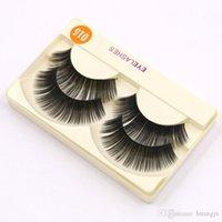 Wholesale 2Pair High Quality Flat False Eyelash Beauty Luxury Mink Eyelashes Natural Soft Individual Eyelashes Hand Made Mink Lashes D15