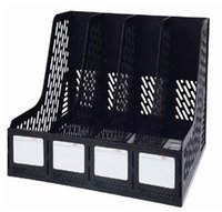 basket file boxes - Office File Holder Tea Pottery Desk Shelf Office Supplies Deli Quadruple File Frame Data Baskets Documents Column Box