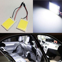 Wholesale 10pcs SMD COB LED Car T10 Festoon Dome Light Panel Lamp V W bulbs White
