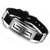 Wholesale 90 Off Silicone Balance Bracelet European Charm Men s Wristband Bracelet Hot Sale Black Silicone Jelly Bracelets Titanium steel Glow