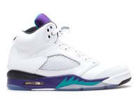 Wholesale Air Retro Grapes Basketball Shoes Retro V White New Emerald Grape Ice Black Sports Runner Outdoor