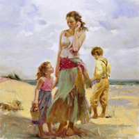 Wholesale Framed Framed Golden Afternoon by Pino Daeni Pure Hand painted world famous Art Oil Painting Quality Canvas Multi sizes DH