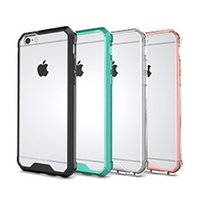 airs iphone covers - New For Iphone Case TPU Transparent Air Hybrid Case Soft TPU PC Back Cover Case For Iphone S DHL SCA198