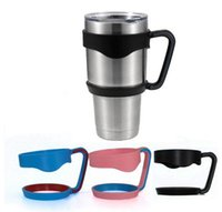 Wholesale 2016 Yeti Cups Handle colorful Yeti Tumbler Handle for oz YETI Rambler Tumbler Outdoor Travel Portable Double Wall freeshiping