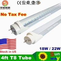 Wholesale Father s Day T8 LED Tubes ft W W W lm Lights Lamps V SMD2835 Led Fluorescent Bulbs Lighting mm M Feet