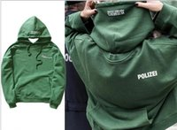 Wholesale Vetements Wide Oversized Sweatshirt Vetements Hoodie Women Men Green Hoodie Green Oversized Polizei Hoodie New Streetwear