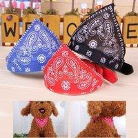 bandana material - Brand new Pet supplies Dog Accessories Triangle Bandana Scarf Dog Collar PU Material little bell colors