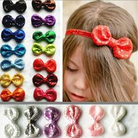 little girl jewelry - The little girl headdress beads fine flash bow Bow Headband with children with jewelry and accessories