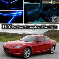 band tunes - interior Ambient Light Tuning Atmosphere Fiber Optic Band Light For Mazda RX RX8 RX Door Panel illumination Refit
