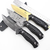 aluminum corrosion - Multitool Black Golden Aluminum Handle lbs corrosion surface CS Pocket EDC Camping outdoor Tactical straight knife with fixed blade