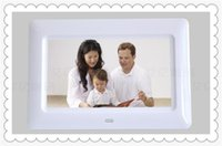 Wholesale DHL HOT inch HD LCD Screen Desktop Digital Photo Frame Calendar Digital Picture Display Frame with Calendar Support Tf Sd Flash Drives
