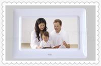 achat en gros de numérique cadres calendrier-DHL HOT 7 pouces HD LCD écran de bureau numérique photo cadre calendrier Digital Picture Frame d'affichage avec calendrier Support Tf Sd Flash Drives