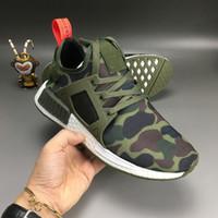 al por mayor tapas netas-2016 Nuevo verde militar del ejército de la marina de guerra de la llegada NMD XR1 Boo del pato para el tamaño superficial neto 36-45 de los zapatos corrientes de calidad superior MND III Envío libre