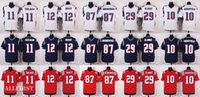Wholesale 2016 New England Mens Elite Football Jerseys Gronkowski Brady Edelman etc Version Navy Blue White Red Stitched Jerseys
