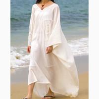 arab dress designer - Arab garb Style Extravagant Kaftan Dress Loose Abaya Plus Size Dresses Unique Designer Bat Sleeve Cotton Caftan SD498