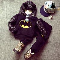 batman hoodies for kids - Autumn Boys Girls Batman Clothes Sets Kids Hoodie Sport Pants Suits Winter Children Warm Cartoon Clothes Sets for years