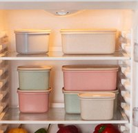 Wholesale Hot Wheat Straw Sealed Cans Whole Grains Storage Box Kitchen Food Storage Box Crisper Creative DHL