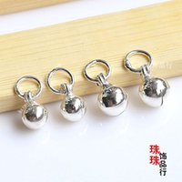 Wholesale DIY handmade jewelry accessories silver bell bracelet anklet bells pendant surface exquisite accessories