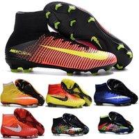 Wholesale 2016 original Mercurial Superfly CR7 FG Football Boots Hot Hypervenom Phantom Kids Football Soccer Shoes Magista Obra Cleats Trainer