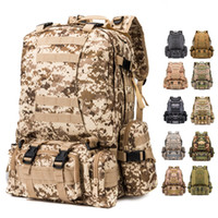 Wholesale hot Multifunction bags Tactical Mountaineer backpack outdoor Camouflage Shoulders A large portfolio package waist Bags field