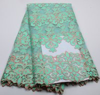 Wholesale APW132B High Quality Nigerian Lace Fabrics African French Net Lace Fabric For Bride Wedding Dress