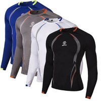 Wholesale Mens Compression Base Layer Tight Top Shirt Under Skin Long Sleeve T Shirts HOT
