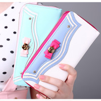 apple moon - Kawaii Sailor Moon Leather Case for iphone s s plus plus Long Wallet Zipper Female Cell Phone Bag Pink White